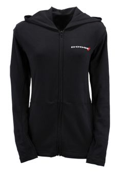 Ladies Stretch Cotton Full Zip Hooded Jacket