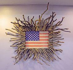 unique American flag art