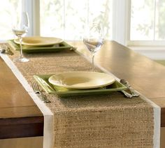 why pay $39 when you can easily make this yourself?  Nubby Table Runner | Pottery Barn