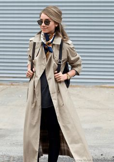 Inspiración de moda y estilo de vida para la mujer de hoy Winter Coat Outfits, Spring Work Outfits, Adrette Outfits, Preppy Outfits, Spring Fashion Trends, Winter Fashion, Trenchcoat Style, Rainy Outfit, Trench Coat Outfit