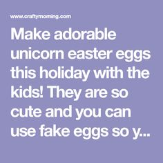 Make adorable unicorn easter eggs this holiday with the kids! They are so cute and you can use fake eggs so you can pull them out year after year! List of Supplies: Egg Black sharpie Pink highlighter pen Craft paper All purpose adhesive Scissors Craft wire Craft pliers – cutting and looping Pencil Instructions: Step …