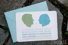 ombre + silhouette invites by Jones Design Co.