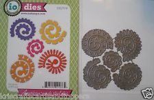 Impression Obsession LARGE  Spiral FLOWERS Set of 5 Dies ~ NEW ~270~ FREE  P&P