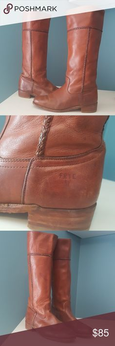 FRYE Boots Fantastic pair of women's Frye boots. They show alot of wear and are broke in. So these are sure to be comfy! Size 8-1/2. Made in USA. If you have ever owned a pair of Frye boots or shoes, you know they last forever! Frye Shoes Heeled Boots