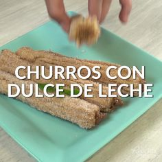 These CHURROS STUFFED WITH MILK SWEET are ideal to share with the family. Mexican Food Recipes, Sweet Recipes, Dessert Recipes, Tasty Videos, Food Videos, Delicious Desserts, Yummy Food, Creative Desserts, Food Humor