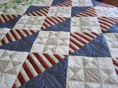 quilts of valor free patterns | Free Big Block Quilt Patterns | ... ... | Americana flag quilts