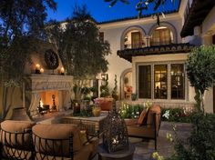 Luxurious Outdoor Patio - living, space, mansion, luxury, rich, patio, outdoor, fireplace