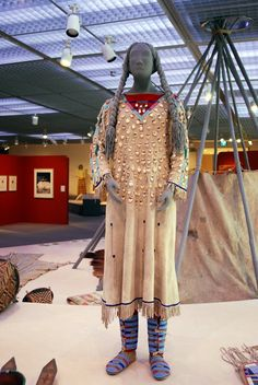 The Elk Tooth Dress.  It is the most valuable dress a Crow woman can own(especially those made of buckskin); connoting her wealth and prominence in the community. On display at the Denver Museum of Art.