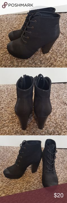 Black Booties Booties only worn 1-2 times, still like new Mossimo Supply Co. Shoes Ankle Boots & Booties