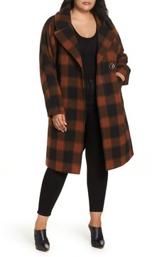 67c7a66a83c18 Free shipping and returns on RACHEL Rachel Roy Oversize Boiled Wool Coat (Plus  Size)