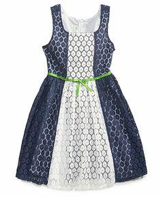 For Ellis-Bonnie Jean Girls' Color-Blocked Lace Dress - Kids - Macy's