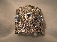 SILVER CUFF BRACELET Wedding jewelry Wedding by ArlenesRubies, $89.00