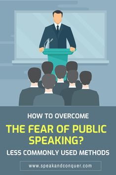 How to Overcome the Fear of Public Speaking – less commonly used methods. In the first part of this post, we will look at how widespread the stage fright is. After that we will take a look at some of the less common  methods used to relieve the speaking anxiety. #publicspeaking #stagefright #fearofpublicspeaking #presentationskills