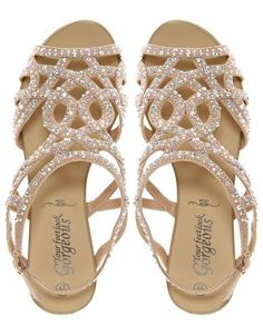 Diamante Trim Flat Sandal