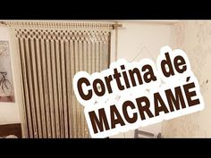 YouTube Diy Paso A Paso, Macrame Curtain, Macrame Tutorial, Macrame Knots, Hobbies And Crafts, Rope Crafts, Tutorials, Crafts, Ideas