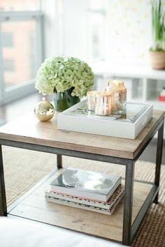 Wunderschöne #Tischdeko für das Wohnzimmer. Simpel und schön!