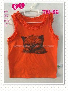 เสื้อแขนกุด เด็ก ขนาด M(1-2ปี)- L(2-4 ปี) - XL(4-6)-