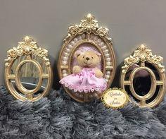 Trio de molduras para decoração quarto de menina