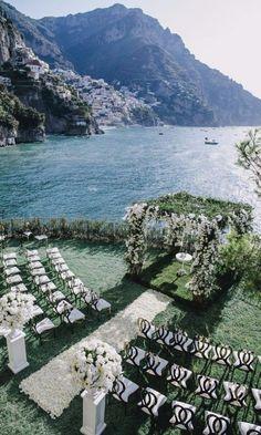 A Floral-filled Purple Destination Wedding In Positano
