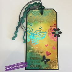 tag, foil, shabby chic, butterfly,
