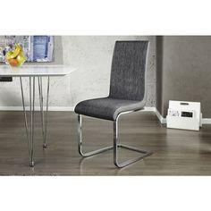 Moderne vrijdragende zweefstoel Metropolis II grijs zwart - 20110