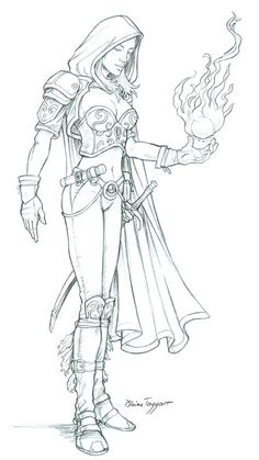 Sphere of Flame by staino on DeviantArt Fantasy Drawings, Pencil Art Drawings, Art Drawings Sketches, Fantasy Art, Adult Coloring Book Pages, Colouring Pages, Coloring Books, Desenhos League Of Legends, Character Art