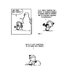 nevver:    Calvin and Hobbes    No reason to be bored… create art.