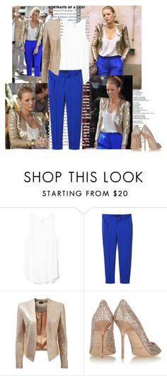 """Blake Style In Gossip Girl"" by tamo-kipshidze ❤ liked on Polyvore featuring Forever New and Jimmy Choo"