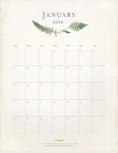 A January Refresh and printable calendar.