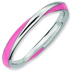 Sterling Silver Stackable Expressions Twisted Pink Enameled Ring Size 10 >>> Find out more about the great product at the image link.(This is an Amazon affiliate link and I receive a commission for the sales)