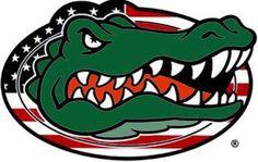 Gators for America Fla Gators, Florida Gators Football, College Football, Gator Football, Gator Logo, Football Crafts, Football Memes, Football Pics, Florida Gators Wallpaper