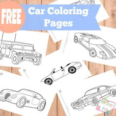 These car-themed coloring pages will be sure to get your kid's creativity racing! A fun craft for a rainy day this summer.