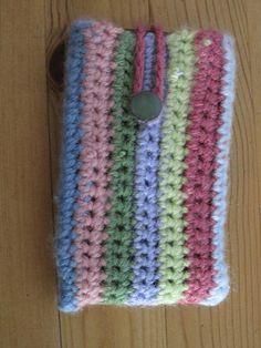 Crochet stripy phone sock by LITTLEMISSERIC, via Flickr