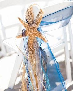39 Gorgeous Beach Wedding Decoration Ideas ❤ beach wedding decoration ideas beach chair decor starfish Kristen Lynne Photography #weddingforward #wedding #bride