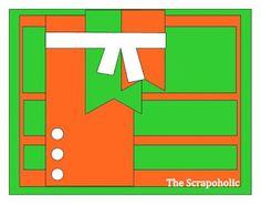 The Scrapoholic Scrapbook layout 1