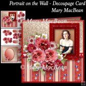Portrait on the Wall Decoupage Card