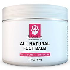 Elbahya Organic Foot Balm with Shea Butter and Lavender Effective Natural Moisturizer for Dry Cracked Feet and Heels 176 Oz * You can get more details by clicking on the image.