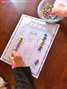 Measuring with Easter M&M's