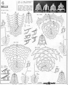 Crochet Christmas Decorations, Crochet Ornaments, Holiday Crochet, Crochet Snowflakes, Crochet Home, Crochet Doilies, Crochet Diagram, Crochet Chart, Christmas Charts