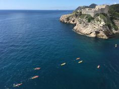 People kayaking in Dubrovnik. The pearl of Adriatic is a popular yacht charter destination. Dubrovnik, Kayaking, Pearl, River, Popular, Outdoor, Outdoors, Kayaks, Bead