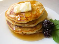 "Traditional most used recipe -- It's pancake time. We had a little ""pancake party"" this morning. Laurel is just in from her 7 week road trek and my Mom came by after we walked at the park this morning. So how ab..."