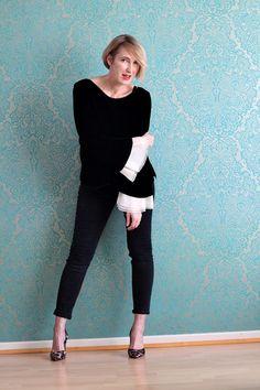 Glam up your Lifestyle - Ü40 + Ü50 Blog für Mode, Lifestyle, Beauty, Fitness und gesunde Ernährung : Schwarze Samtbluse für den Tag