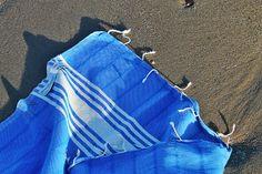 handgeweven hamamdoek hammam handdoek Blauw.
