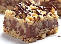 These chocolate oatmeal bars are absolutely delicious and very easy to make! - Today, I'm offering you a delicious snack (or dessert) recipe that is super easy to make and free - Easy Appetizer Recipes, Easy Cookie Recipes, Sweet Recipes, Snack Recipes, Dessert Recipes, Easy Recipes, Healthy No Bake Cookies, Easy No Bake Desserts, Protein Cookies