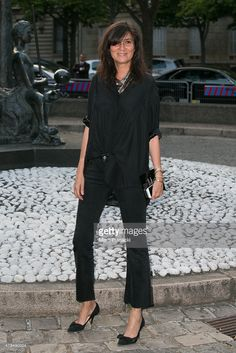 Emmanuelle Alt attends the Miu Miu Club launch of the first Miu Miu fragrance and croisiere 2016 collection at Palais d'Iena on July 4, 2015 in Paris, France.