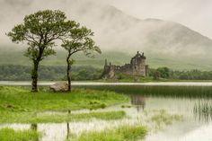 Misty & wet Kilchurn Castle, Loch Awe, Argyll