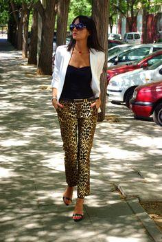 summer suiting - leopard pants