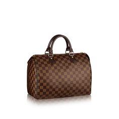 Speedy 30 - Damier Ebene Canvas - Handbags   LOUIS VUITTON