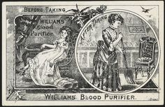 Before taking Williams Blood Purifier, after taking Williams Blood Purifier. (front) by Boston Public Library, via Flickr