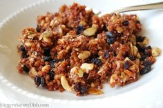 """This tasty and addicting recipe for Paleo cinnamon crunch """"granola"""" is a tasty option if you are adhering to a Paleo diet plan"""